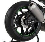 Motorrad Felgenrandaufkleber Premium grün