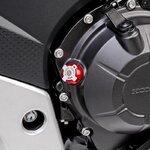 CNC Ölstopfen Puig Suzuki V-Strom 650 XT 2015 rot Pic:1