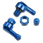 Motorcycle angle valve Puig universal blue (Pair)