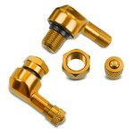 Motorcycle angle valve Puig universal gold (Pair)