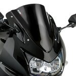 Double bubble screen Puig Kawasaki Ninja 250 R 08-12 black