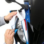 Motorrad Schutzfolie transparent Racetecs 75x100cm Pic:1