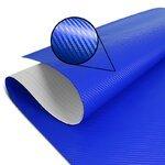 Wrapping Klebefolie Carbon-Look 3D für Motorrad Racetecs 75x100cm blau
