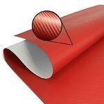 Wrapping Klebefolie Carbon-Look 3D für Motorrad Racetecs 75x100cm rot