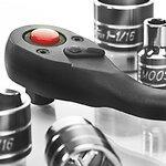 Smoos Tools Zoll Steckschlüssel-Sortiment mit Knebel, 1/2 Zoll, 17-teiliges Werkzeug-Set