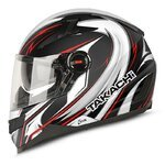 Takachi Motorcycle Full-Face Helmet TK44 DVS Shuriken red - L