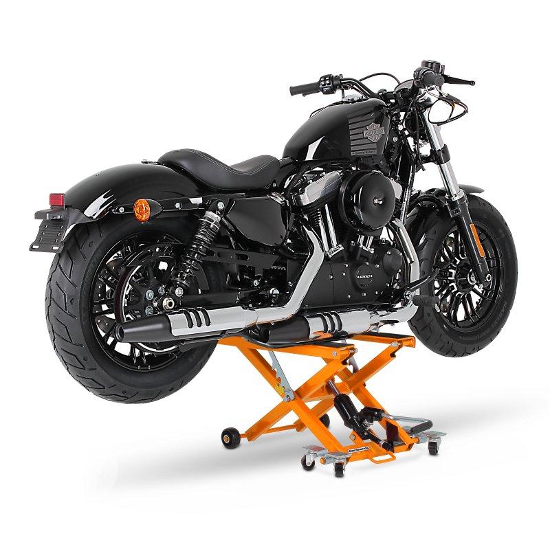 Motorrad Hebebühne Scherenheber Hydraulik-Lift ConStands XL orange