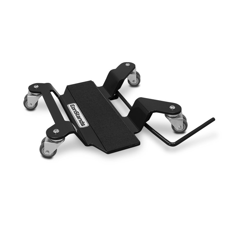 Motorrad Rangierplatte für Hauptständer ConStands schwarz