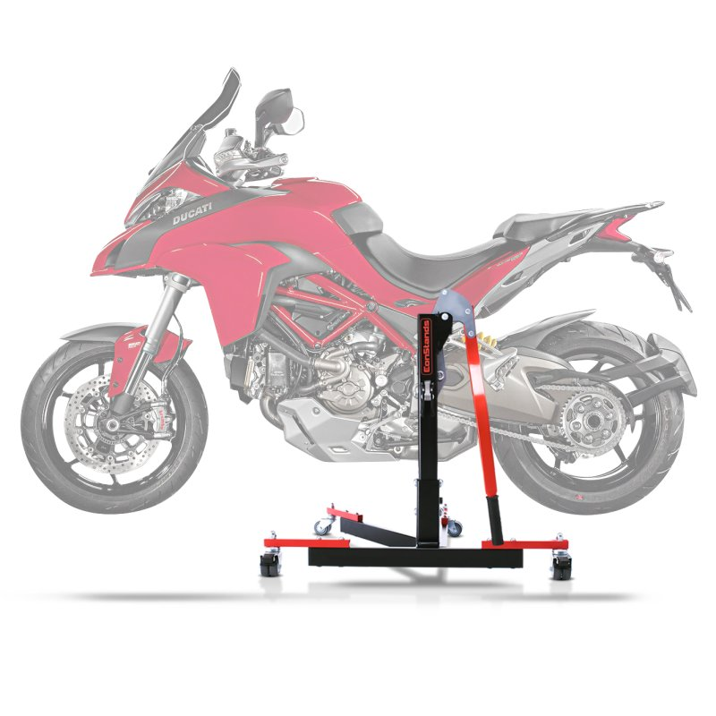 Center Paddock Stand Lift ConStands Power Evo Ducati Multistrada 1260 S/ D-air 18-19 red