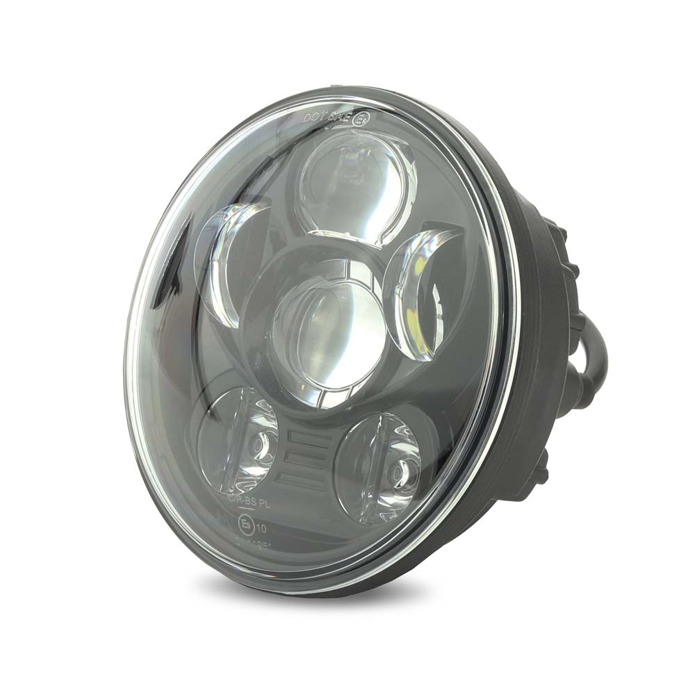 "LED Headlight Craftride 7"" for Harley Davidson black"