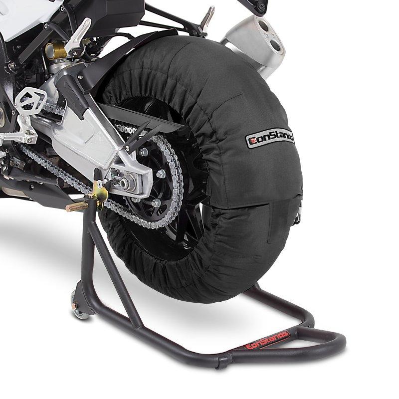 Motorcycle Tyre Warmers ConStands Superbike 60-80 C Set Black