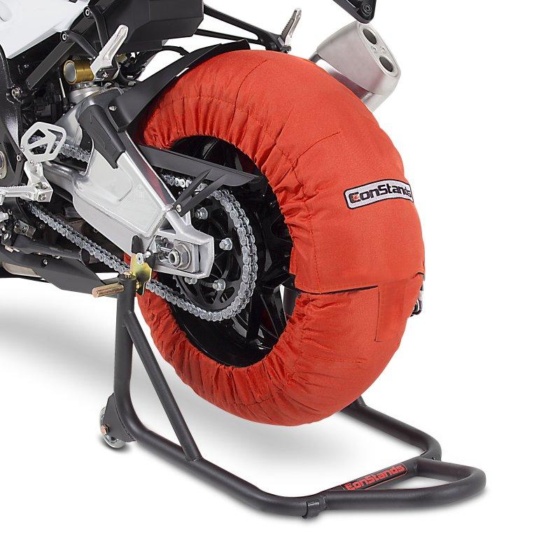 Motorcycle Tyre Warmers ConStands Superbike 60-80 °C Set Orange