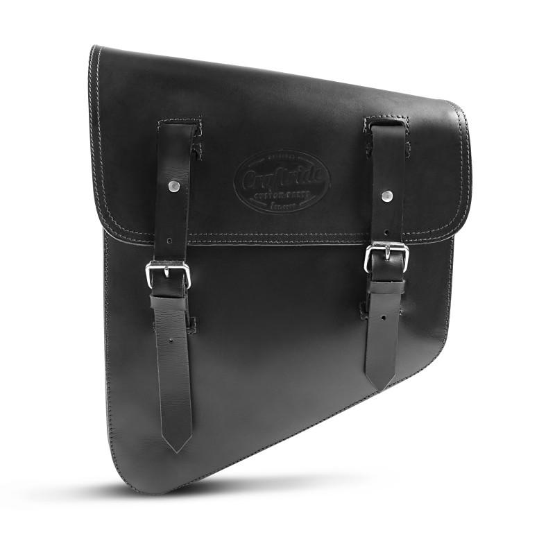 Chopper Solo Saddlebag Craftride Utah 11l black Genuine Leather