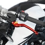 V-Trec Safety Brake + Clutch Lever Set folding Triumph Street Triple RS 17-19 Pic:4