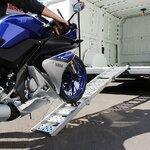 Alu Auffahrrampe Constands III, bis 300 kg, dreifach zusammenklappbar, für Motorrad, Scooter, Quad, ATV Pic:4