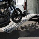 Alu Auffahrrampe Constands V, bis 750 kg, klappbar, für Motorrad, Scooter, Quad, ATV Pic:3