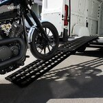 Aluminium Loading Ramp Constands V black, max. 750 kg, folding, for Motorcycle, Scooter, Quad, ATV Pic:3