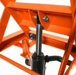 Hydraulic Scissor Lift Dolly ConStands Moto Cross XL + Castors Orange Pic:11