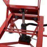 ConStands Hydraulik Hebebühne Moto Cross Lift XL + Räder rot Pic:3
