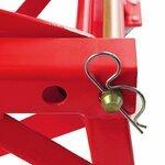 ConStands Hydraulik Hebebühne Moto Cross Lift XL + Räder rot Pic:8