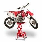 ConStands Hydraulik Hebebühne Moto Cross Lift XL + Räder rot Pic:1