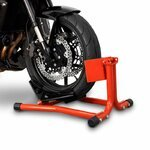 ConStands Motorcycle Paddock Stand Wheel Chock Easy Red