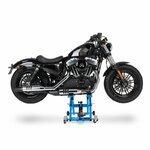 Motorrad Hebebühne Scherenheber Hydraulik-Lift ConStands XL blau Pic:1