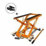 Motorcycle Jack Scissor Hydraulic Lift ConStands XL orange incl. 4 rubber blocks