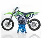 ConStands Hydraulik Hebebühne Moto Cross Lift XL + Rollen Blau Pic:2