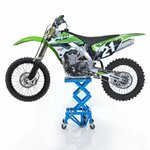 Hydraulic Scissor Lift Dolly ConStands Moto Cross XL + Castors Blue Pic:1