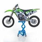 Hydraulic Scissor Lift Dolly ConStands Moto Cross XL + Castors Blue