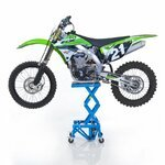Ponte Sollevatore Idraulico ConStands Moto Cross XL + Ruote Blu