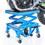 ConStands Hydraulik Hebebühne Moto Cross Lift XL + Rollen Blau Pic:3