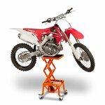 Hydraulic Scissor Lift Dolly ConStands Moto Cross XL + Castors Orange Pic:7