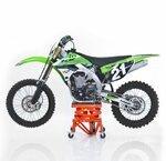 Hydraulic Scissor Lift Dolly ConStands Moto Cross XL + Castors Orange Pic:2