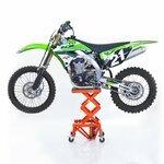 Hydraulic Scissor Lift Dolly ConStands Moto Cross XL + Castors Orange Pic:1
