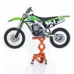 Hydraulic Scissor Lift Dolly ConStands Moto Cross XL + Castors Orange