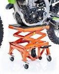 Hydraulic Scissor Lift Dolly ConStands Moto Cross XL + Castors Orange Pic:3