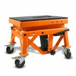 Hydraulic Scissor Lift Dolly ConStands Moto Cross XL + Castors Orange Pic:8