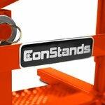 ConStands MX Ständer Mover Rangierhilfe für Motocross, Supermoto, Enduro, Trial orange Pic:2