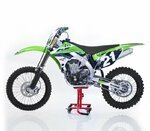 ConStands MX Cavalletto Alza Moto Sposta per Motocross, Enduro, Supermoto, Trial rosso