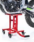 ConStands MX Paddock Stand Dolly Mover for Dirt Bike, Moto Cross, Supermoto, Enduro, Trial red Pic:1