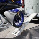 Constands Auffahrrampe Stahl, bis 300 kg, zusammenklappbar, für Motorrad, Scooter, Quad, ATV Pic:4