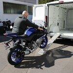 Constands Auffahrrampe Stahl, bis 300 kg, zusammenklappbar, für Motorrad, Scooter, Quad, ATV Pic:5