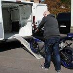 Constands Auffahrrampe Stahl, bis 300 kg, zusammenklappbar, für Motorrad, Scooter, Quad, ATV Pic:6