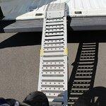 Constands Auffahrrampe Stahl, bis 300 kg, zusammenklappbar, für Motorrad, Scooter, Quad, ATV Pic:7
