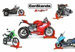ConStands Motorcycle Paddock Stand Wheel Chock Easy Plus Pic:8