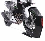 ConStands Easy Transport Fix - Motorcycle Stand Black Paddock Front Wheel Chock Transport Universal Pic:3