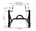 Rear Paddock Stand ConStands ST Racing black Pic:6