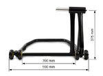 ConStands Rear Paddock Stand Ducati Multistrada 1000 03-06 black mat, Single Swing Arm, adaptor incl. Pic:8
